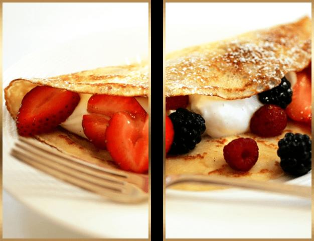 6 opções de ingredientes para o preparo dos crepes doces