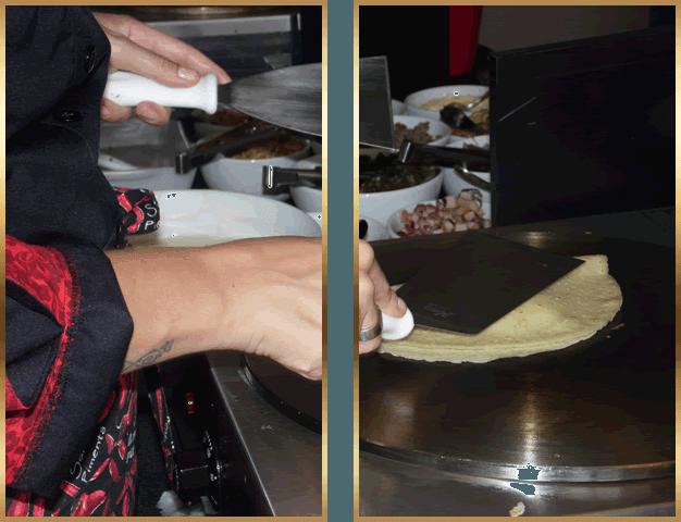 Buffet Cris Pepper - Preparação de Crepe Francês